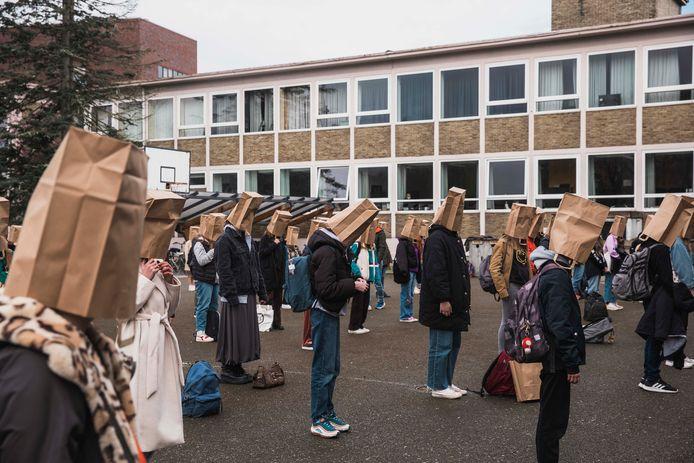 Er was eerder dit jaar onder leerlingen protest tegen nieuwe eindtermen.