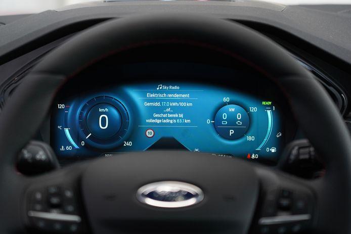 Een digitale cockpit is optioneel (standaard vanaf de ST-Line)