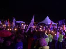 Vijfduizend kaarsjes bij samenloop voor hoop Uden