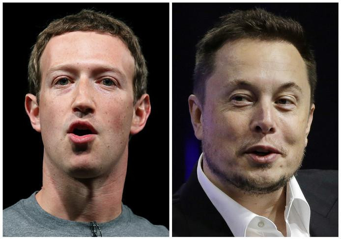 Mark Zuckerberg en Elon Musk.