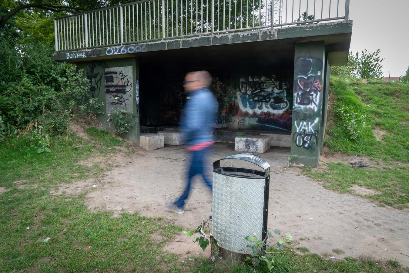 De jongerenontmoetingsplek aan de Nielant in Huissen.