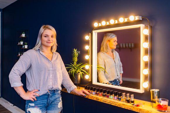 Tessa Piessens in haar nieuw schoonheidssalon 'House of Beauty'