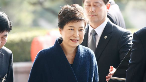 De afgezette Zuid-Koreaanse ex-presidente Park Geun-hye.