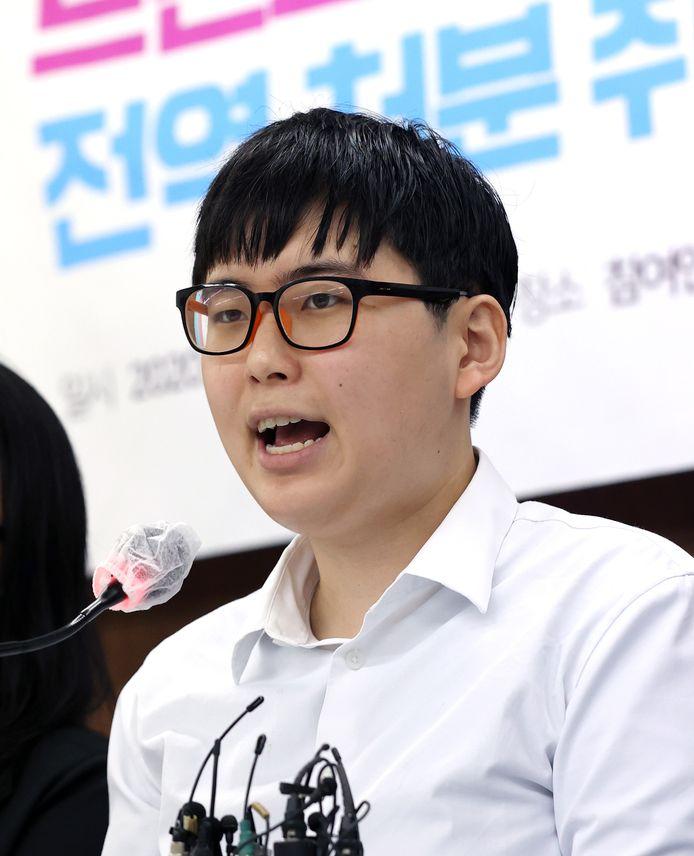 In  augustus vorig jaar kondigde Byun Hee-soo op een persconferentie nog aan naar de rechter te stappen.