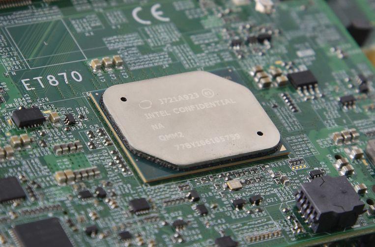 Een Intel-processor op een computerboard. Beeld EPA