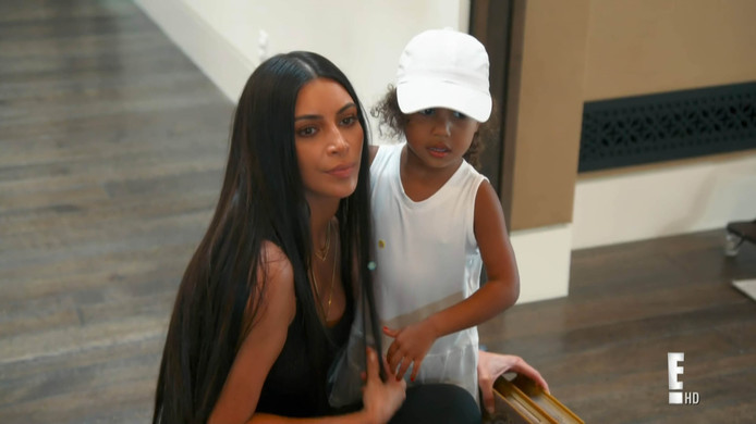 Kim Kardashian en North West.