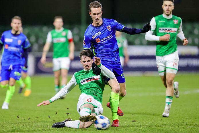 Dennis van der Heijden maakte tegen FC Dordrecht dit seizoen twee prachtige treffers.