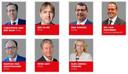 Alle gedeputeerden van de provincie Noord-Brabant.
