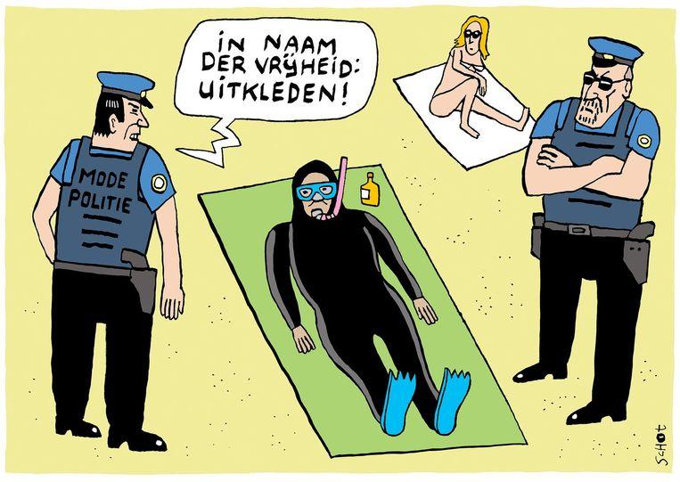 vk-boerkini mode politie islam terrorisme  Bas van der Schot Beeld Bas van der Schot