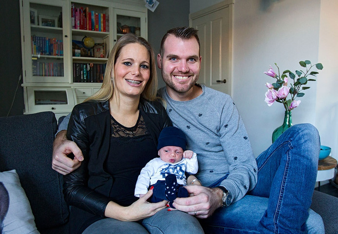 Nick met zijn ouders