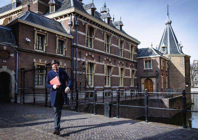 Demissionair premier Rutte lijkt op 'de manager die erop toeziet dat de motor van het bedrijf efficiënt blijft draaien'.    Beeld ANP