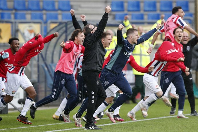 Ongekende vreugde bij Willem II.