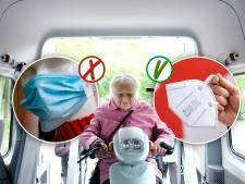 Medisch mondkapje verplicht in regiotaxi: 'Lastig voor kwetsbare mensen'