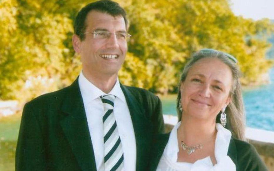 De echte Xavier Dupont de Ligonnès met echtgenote Agnès