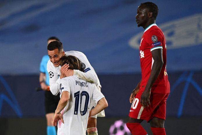 Real Madrid juicht, Liverpool baalt.