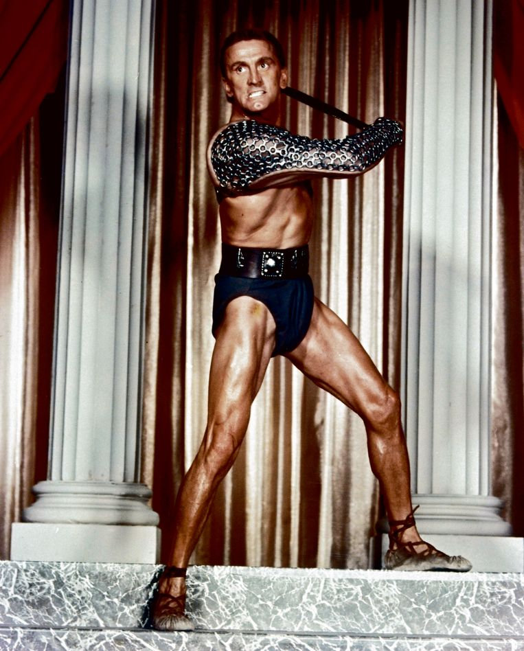 Kirk Douglas in Spartacus'. Beeld rv