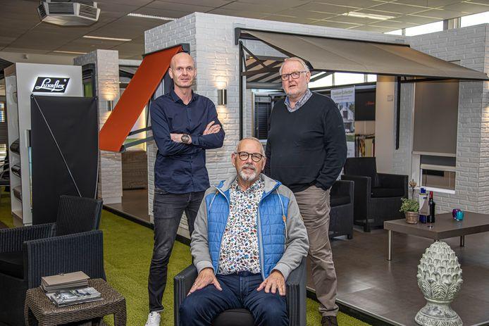 Jacco van Keulen, Martien Hovestad en Jan van Keulen (vlnr).