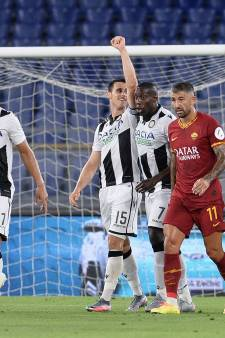 AS Roma ook onderuit tegen Udinese