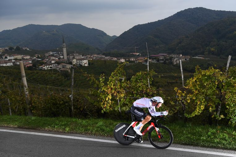 Kelderman tijdens de afgelopen Giro d'Italia. Beeld Getty Images