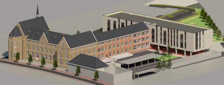 Zo zal de nieuwbouw van Sint-Hubertus eruitzien.
