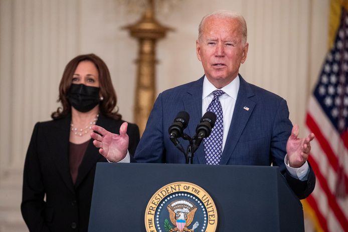 Amerikaanse president Joe Biden en vicepresident Kamala Harris