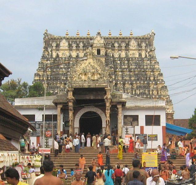 De tempel van Sri Padmanabhaswamy.