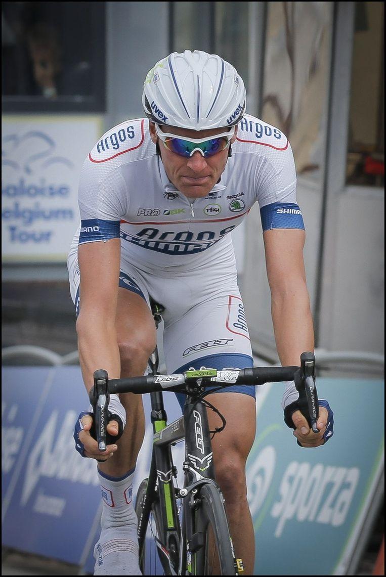 Ramon Sinkeldam finishte als derde in de spurt. Beeld PHOTO_NEWS
