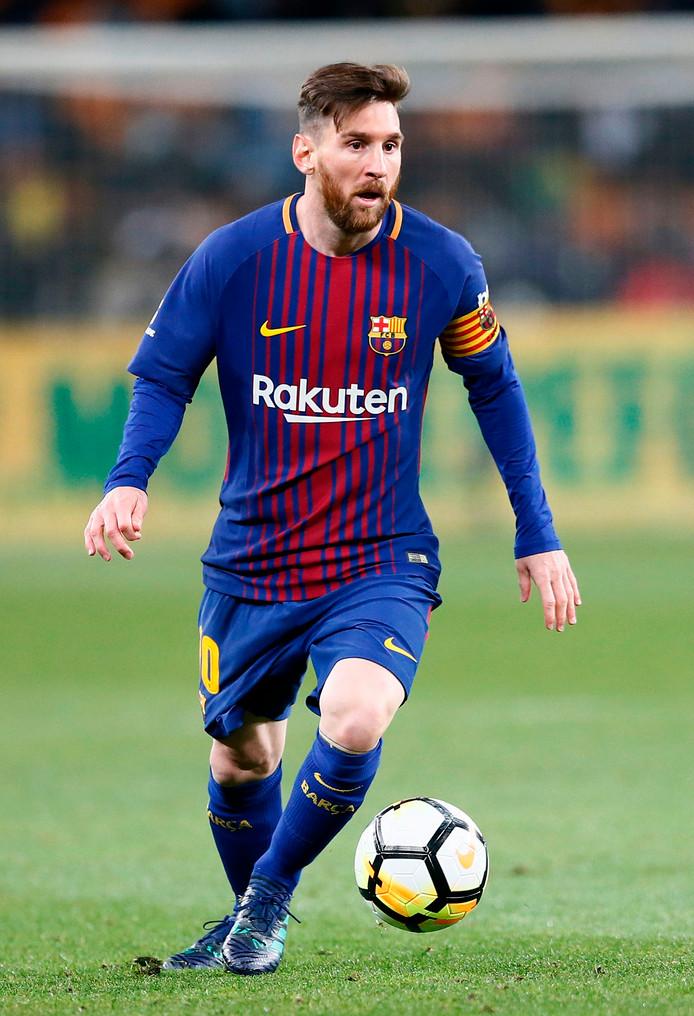 Lionel Messi viel een kwartier voor tijd in bij FC Barcelona.