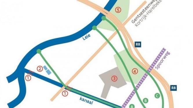 Vlaanderen kiest voor ringtracé in project kanaal Bossuit-Kortrijk: stedelijk openluchtbad Abdijkaai gered