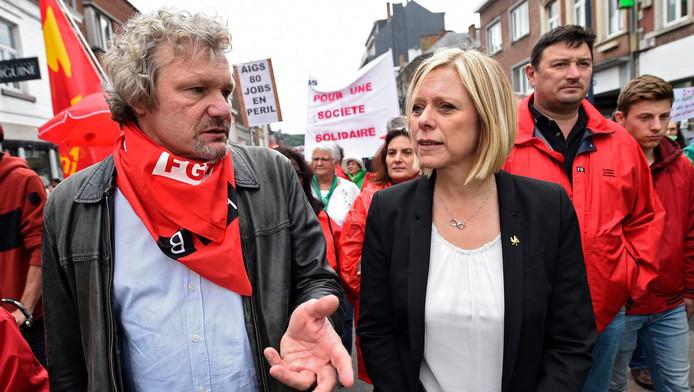 Thierry Bodson et Eliane Tillieux (PS)