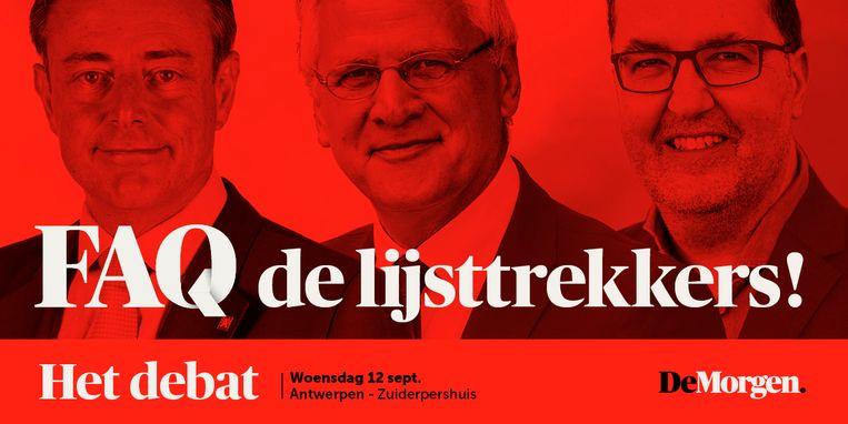 Kom naar het kopstukkendebat van De Morgen in Antwerpen! Beeld RV