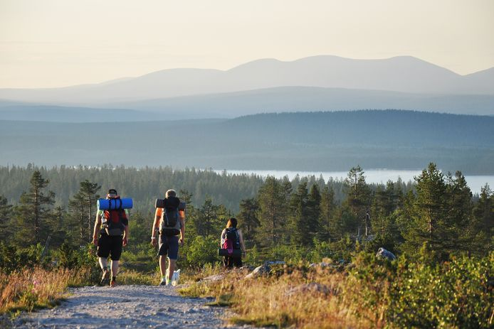 Wandelaars in Lapland.