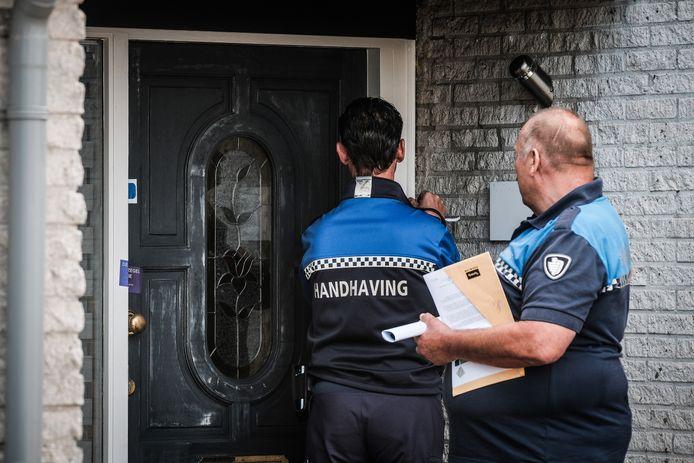De sluiting van een woning na een drugsvondst (archieffoto)