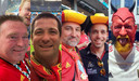 Rode Duivels supporters fan combi foto