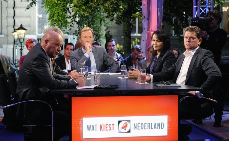 ...Rick Niemand en zijn talkshow over de verkiezingen, vorig jaar... Beeld anp