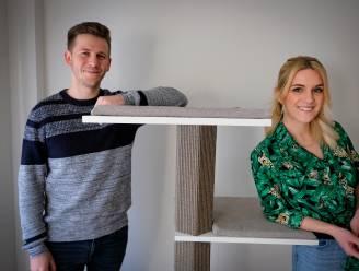 """Kattenkrabpalen in designjasje van Elsense start-up 'Furrniture' slaan aan: """"Zelfs vanuit Verenigde Staten is er interesse"""""""
