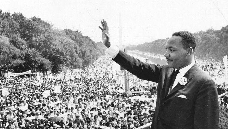 Martin Luther King tijdens zijn beroemde 'I have a dream'-toespraak. Beeld anp