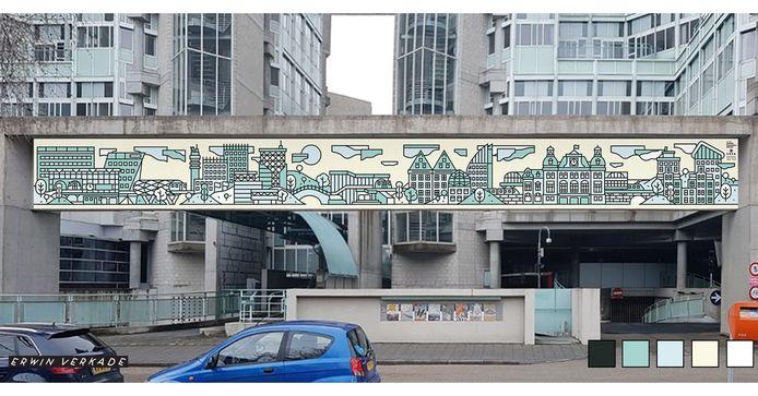 Werk Erwin Verkade, grafittikunst SoZa