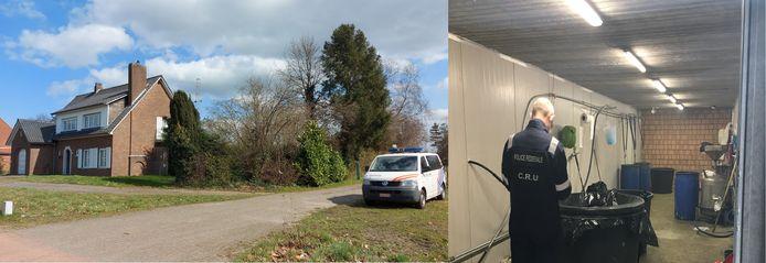 De federale politie ontdekte vrijdagochtend een cocaïnewasserij in een loods aan de Huiskens in Arendonk.