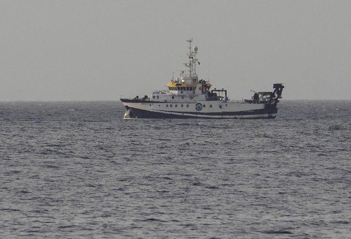Een schip van het Spaanse Oceanografisch Instituut speurde de zeebodem af.