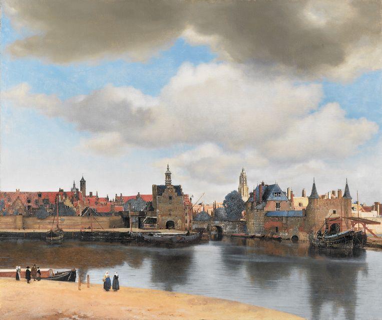 Johannes Vermeer: 'Gezicht op Delft', circa 1660-1661.  Beeld Mauritshuis Den Haag