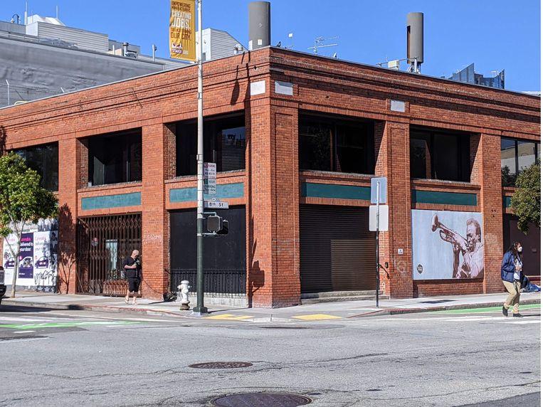 Het gebouw van BetterUp, het bedrijf in San Francisco waar Harry voor gaat werken. Beeld AFP