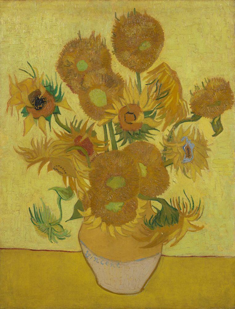 Achterhalen of je de 'Zonnebloemen' van Van Gogh kunt smaken, is een koud kunstje voor het California Institute of Technology (Caltech). Beeld vangoghmuseum