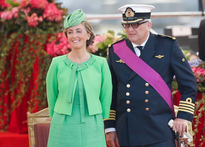 Prinses Claire en prins Laurent.