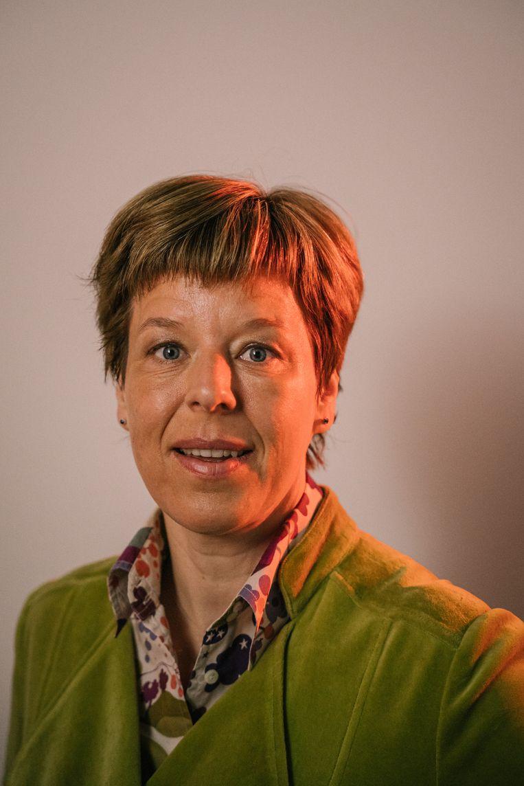 Nancy Vermeulen: 'De eersten die op Mars zullen verblijven, leven nu al. We kunnen niet op aarde blijven.' Beeld Wouter Van Vooren