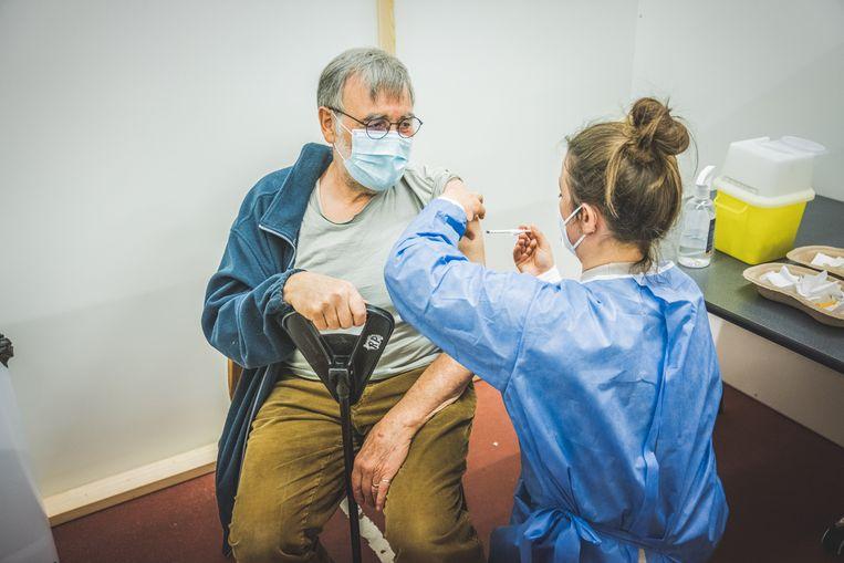 Illustratiebeeld, vaccinatiecentrum Deinze. Beeld Wannes Nimmegeers