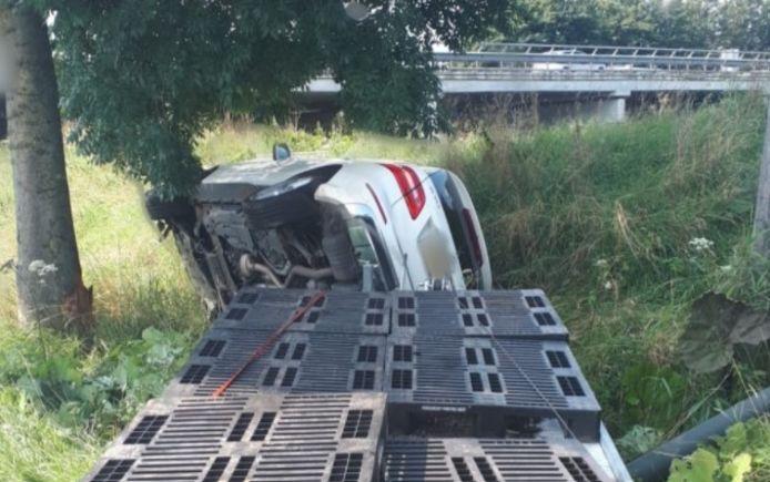 Ongeluk op de Veerweg in Sprang-Capelle.