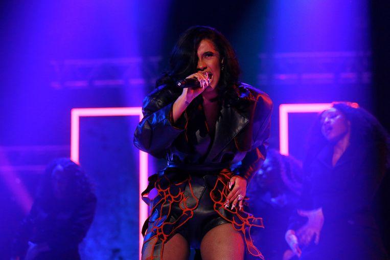 Cardi B klom afgelopen jaar razendsnel naar de top van de Amerikaanse hitparades, met dank aan het streamingmodel.  Beeld Getty Images