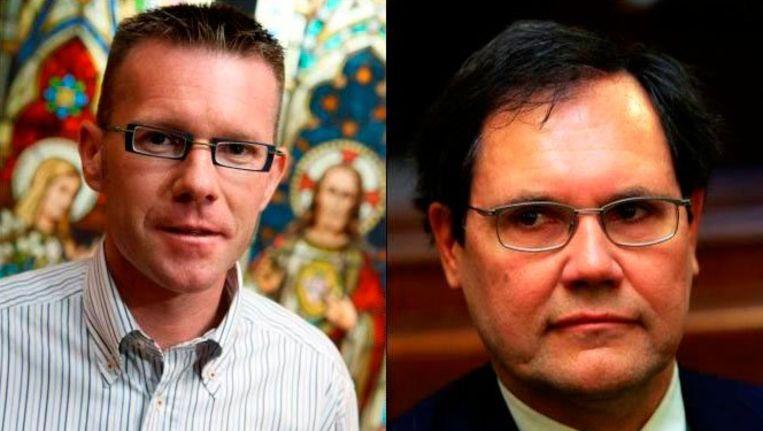 Rudy Borremans (links) zit knap verveeld met de verwarring met de veroordeelde Robert Borremans (rechts)