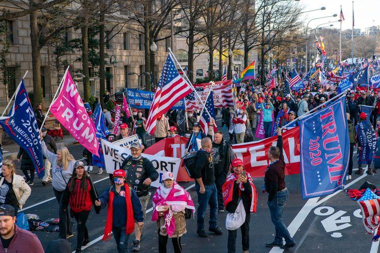 Demonstratie voor Trump in Washington. Beeld Hollandse Hoogte / AFP